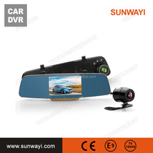 "hot sale 5"" IPS wireless WIFI GPS Dual Lens Navigation android Rear View Mirror Dash Camera CAR DVR gps"