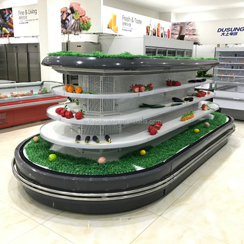 Supermarket Semi Vertical Round Island Display