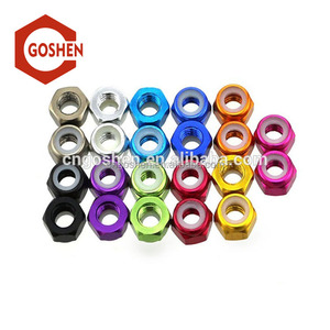 M5-M100 color aluminium alloy Nylon Insert Hex Lock Nut