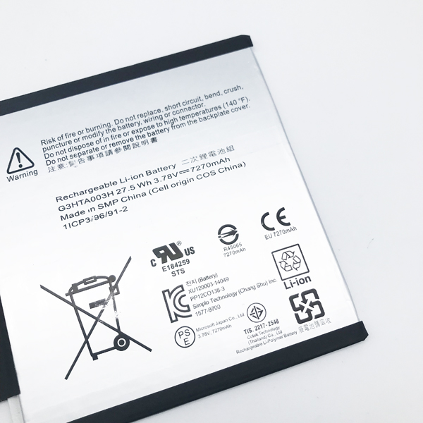 BK-Dbest China Battery Manufacturer Li-ion Tablet Battery for Microsoft Surface PRO 4 1724 G3HTA027H Battery