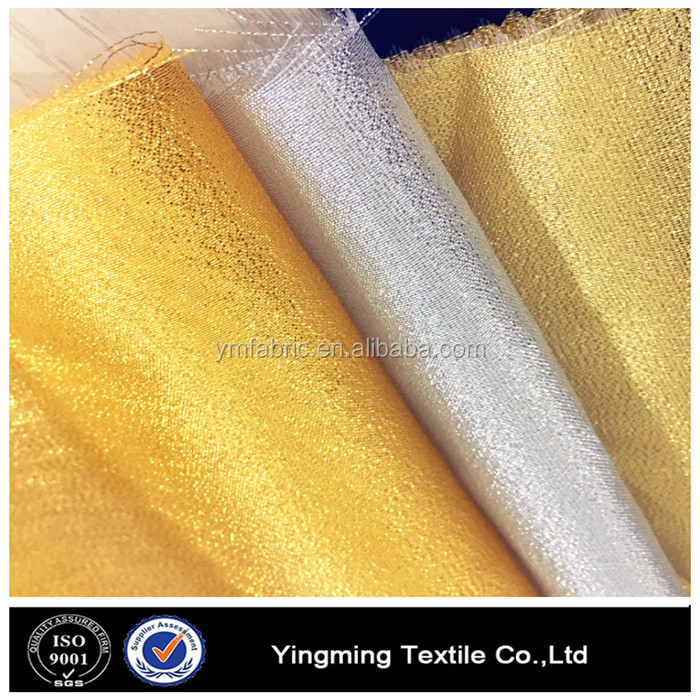 Gold sliver tissue fabric