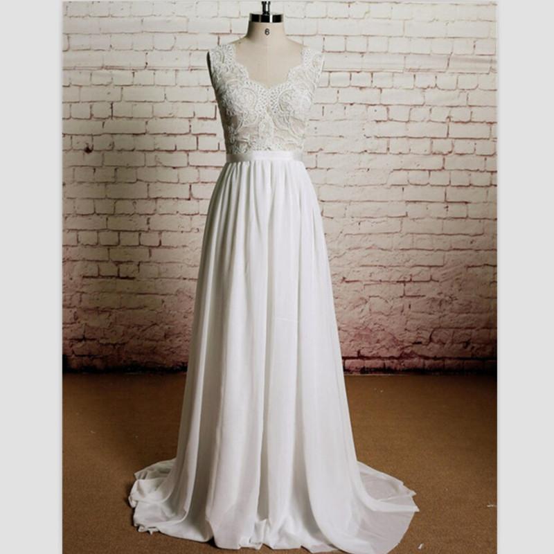 20 Elegant Simple Wedding Dresses Of 2015: New $99 White Lace Beach Wedding Dress 2015 Elegant V Neck