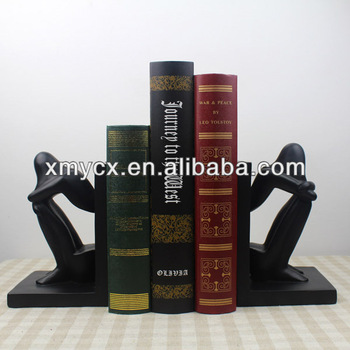 Resin home decoration bookends