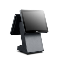 Best price electronic 15 inch dual screen point of sale payment pos terminal machine