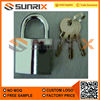 Chrome Plated Iron Safty Lock With Keys