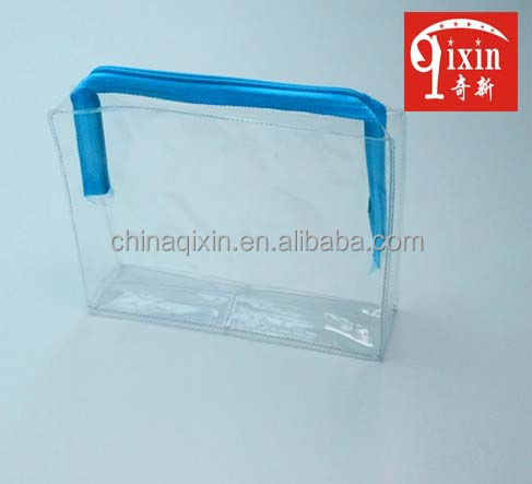 Hot-sale standing up heat seal customized color plastic zipper cosmetic packing