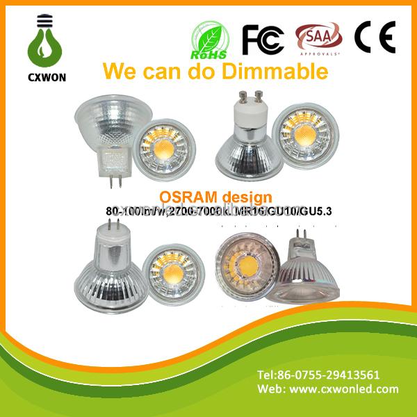 Glass 5watt Cob Spot Light High Volt Low Volt Diameter 50mm Mr16 ...