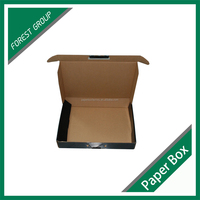 Eco friendly black printing wiht logo packaging corrugated cardboard paper box sets wholesale for the book