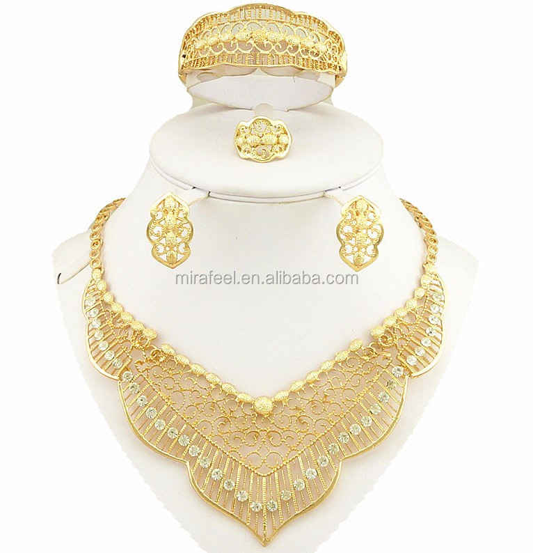 New hot selling gold jewelry wholesale authentic crystal 14k gold jewelry