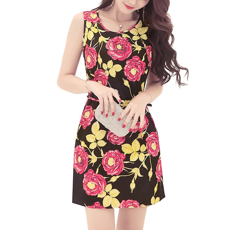 c6d20d3fbea Ds180615 Femmes Été Robe Hippie Chic Décontracté Robe 2018 Mode Femmes  Vêtements de Plage Imprimé Floral
