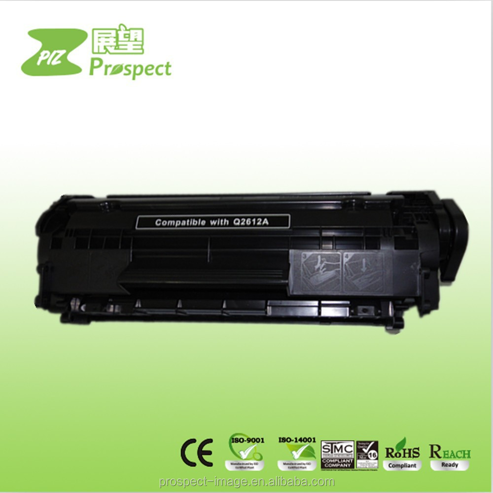 Alibaba supplier Replacement Toners and Cartridges Q2612A for HP Laser Compatible Toner Cartridge