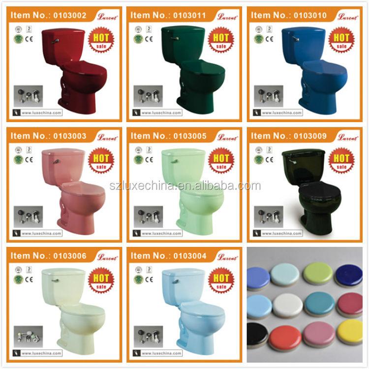 Baños Con Inodoros De Colores:Boton lateral inodoro verde oscuro con asiento y tapa de inodoro s