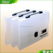 pp plastic clear frosted document case file box with handle