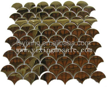 Yx-mi02 Beautiful Decor Fish Scales Shape Metal Mosaic Used For ...