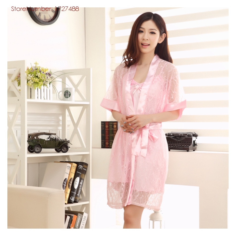 Get Quotations · Summer Sexy Robe 2015 The New Elegant Silk Sleepwear Women  Sexy Robe Sets At Cheap Wholesale 977a0dd6c