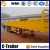 china made cargo semi trailer/cargo box side open/van towing dolly trailer