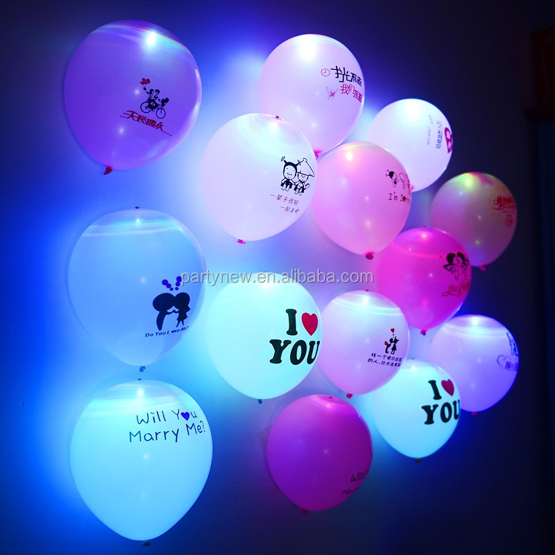 "high quality inflatable latex large size LED balloon 12 "" 24 "" 36"""
