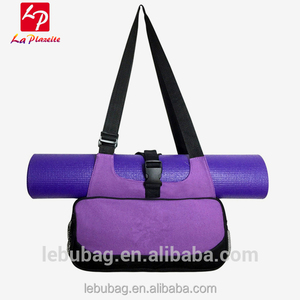Wholesale Cheap canvas women yoga mat fitness bag tote bag