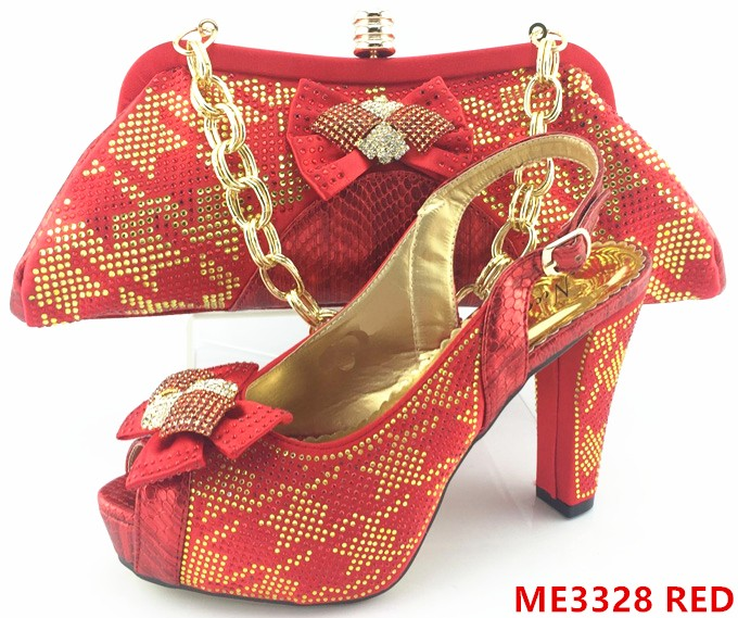 Fashion african female shoes and bag set for wedding party ME3326 WINE fc92da0f8a90
