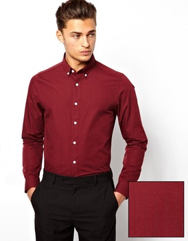 Smark Men Shirt In Long Sleeve With Button Down Collar/cotton ...