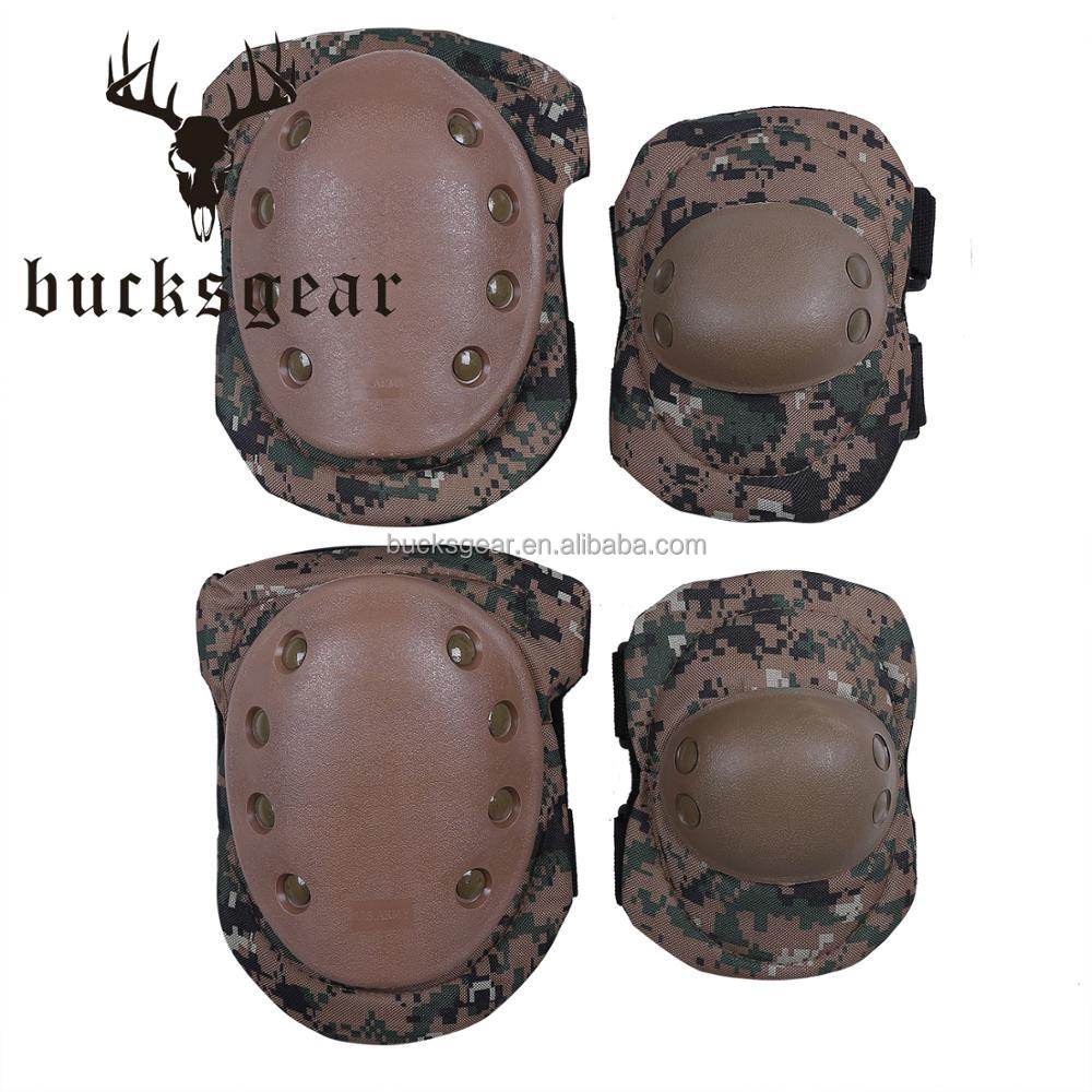 good quality camouflage military protection equipment sports army elbow knee pads