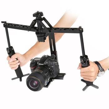 Video Camera Stabilizer >> Adjustable Dual Hands Grip Mechanical Gimbal Dslr Camera Video