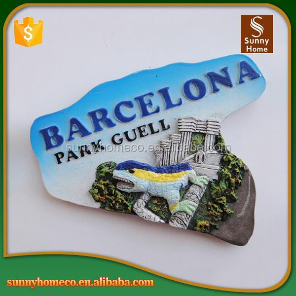 China Manufacturer Custom Spain barcelona Fridge Magnet, Spain Souvenirs