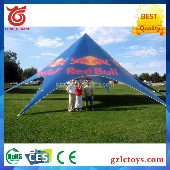 China hot sale red bull luxury safari tent star shade tents for outdoor activities