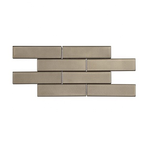 Bathroom Wall Tiles Backsplash Tiles Glossy Grey Decoration Glass Tiles