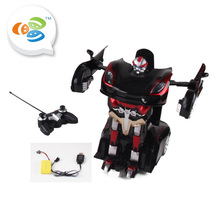 remote control black white robot toys car battery with light