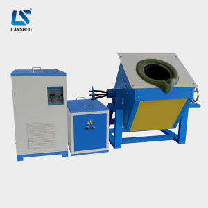 IGBT medium frequency small crucible induction melting furnace for copper melting