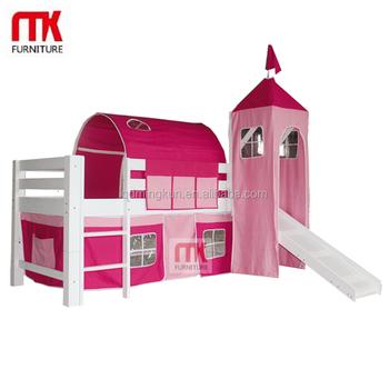 Pine Bed Cabin Mid Sleeper Loft