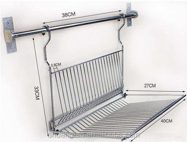 Stainless Steel Wire Dish Drying Rack Customized Kitchen