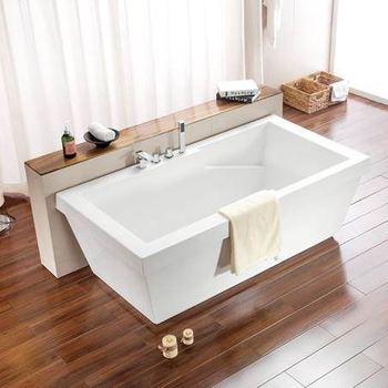Beautiful Rectangular Acrylic Bath Tub Cheap Freestanding Bathtub