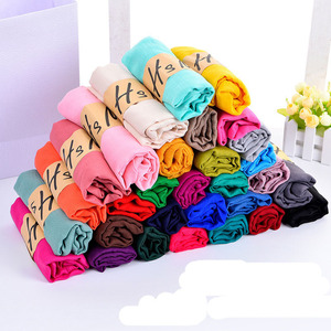 30 Solid candy colors thin fashion cheap cotton scarf 180*65cm