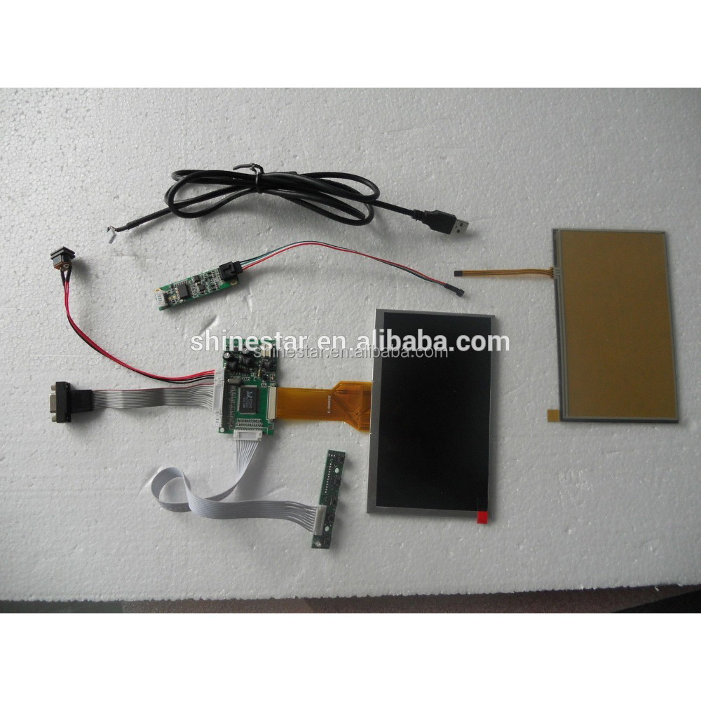 7 Inch SKD open frame Touch Screen LCD VGA <strong>Monitor</strong> DIY For Raspberry Pi +driver