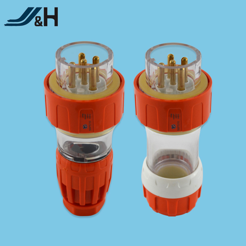5 pin plug and socket 500V 10 amp high temperature resistance explosion proof plug and socket 56CSC510