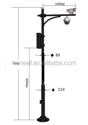 Outdoor Lamp Poles For Cctv Security Camera Enclosure Box