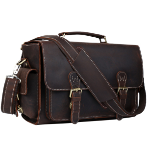 Tiding Vintage Style Real leather Camera Messenger Dslr Bag Camera Shoulder Bag