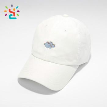 Clouds Embroidery Women Baseball Cap stitch Dad Hat Street Casual Cap  Summer White Cap Female Bones 02685017a2