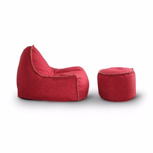 Sofa fabric red round indoor floor beanbag chair sitting puffs