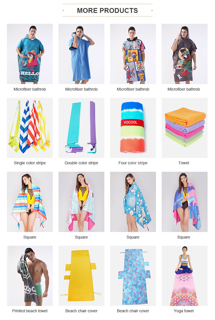 Wholesale Logo Embroidery Microfiber Surf Swimming Beach Adult Bath Hooded Poncho Towel