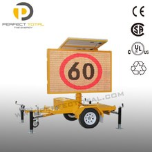 Traffic Sign Solar Led VMS Trailer