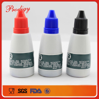 Office use washable red black blue stamp-pad ink in plastic bottle