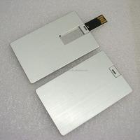 Bulk 1gb usb flash memory drive credit card size with custom logo print as promotion gift