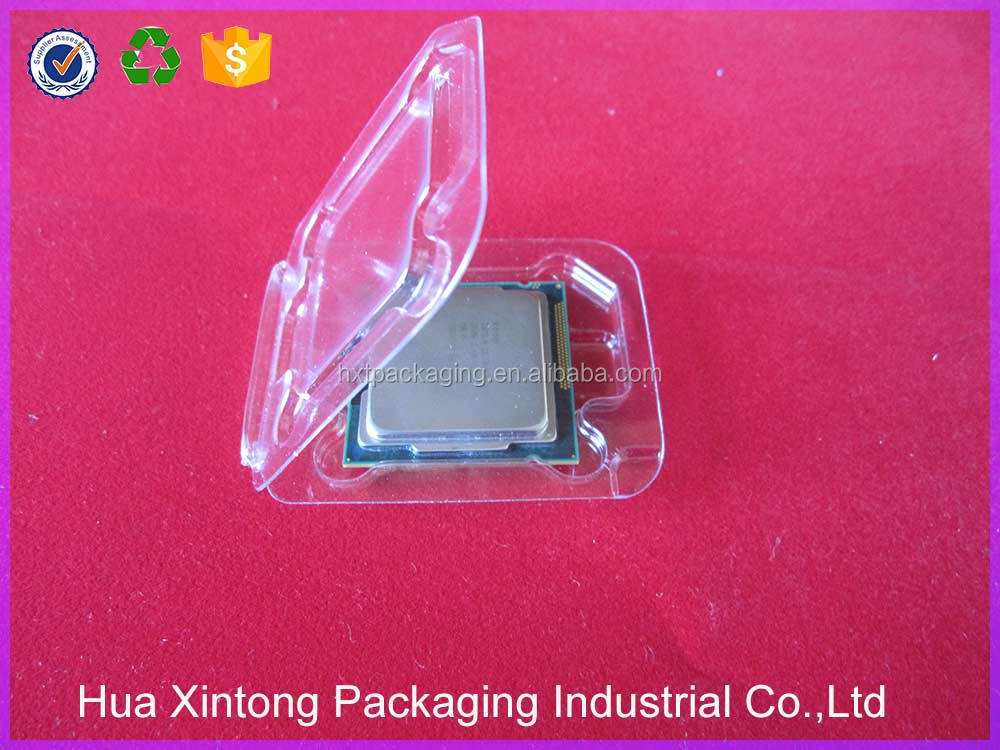 Disposable plastic electronic blister clam shell boxes