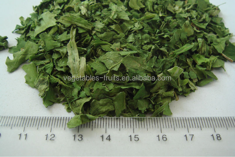 Dehydrated Spinach Leaves