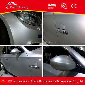 New Arrival Hot Sale Car Sticker High Quality Light Grey Metallic Brushed Vinyl Wrapping