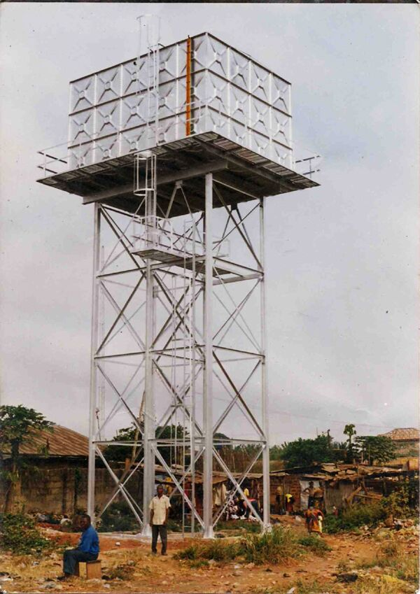 Steel Frame Towers : Professional galvanized steel structure elevated water