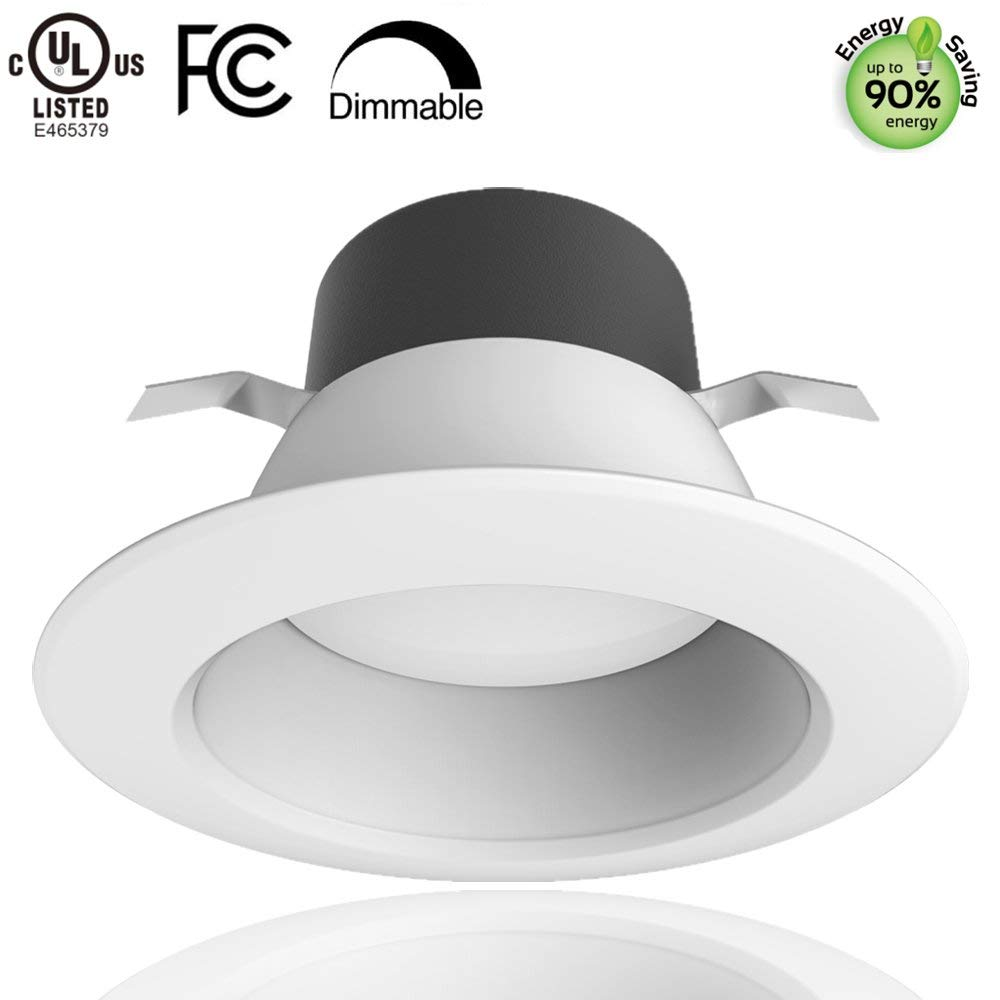 LightingWill 6inch LED Retrofit Downlight, 17W (90W Equivalent) 1300LM Warm White 2700K Dimmable LED Recessed Lighting Fixture, CRI80 LED Ceiling Down Lights kit, UL-Listed (1 Pack)